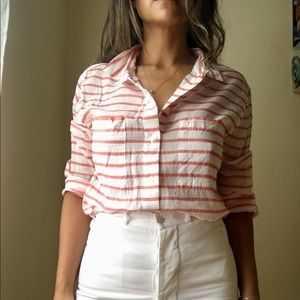 Levi's striped button down